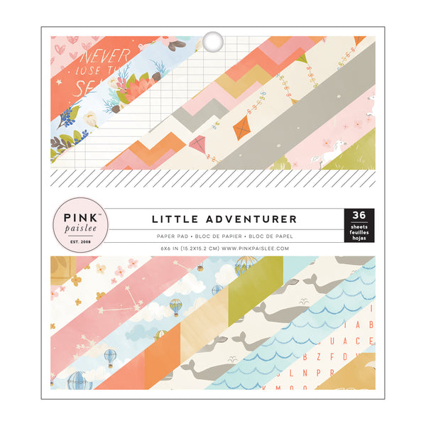 Pink Paislee - Little Adventurer Girl - 6 x 6 Paper Pad