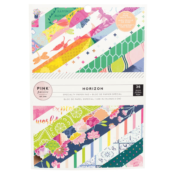 Pink Paislee - Horizon  - 6 x 8 Paper Pad with Foil Accents