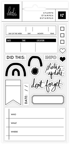 Heidi Swapp - Storyline Chapters - Clear Stamp