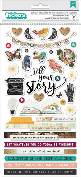 Vicki Boutin - Storyteller - Tell Your Story Chipboard Thickers
