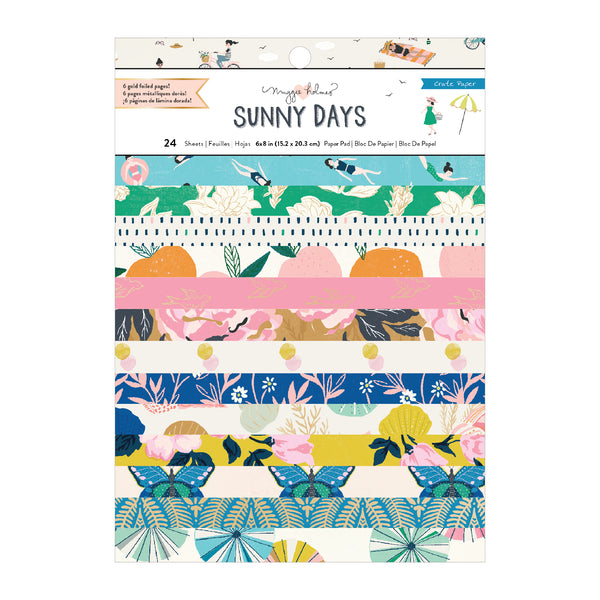 Maggie Holmes - Sunny Days - 6 x 8 Paper Pad with Foil Accents