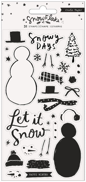 Crate Paper - Snowflake - Stamp Set