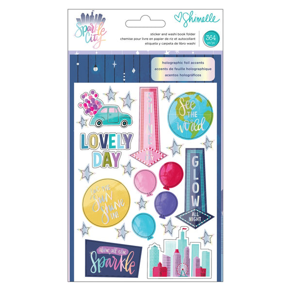 Shimelle - Sparkle City - Sticker & Washi Folder