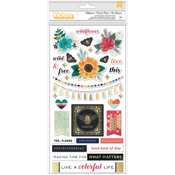 *PREORDER - Vicki Boutin - Wildflower & Honey - Chipboard Icon Thickers