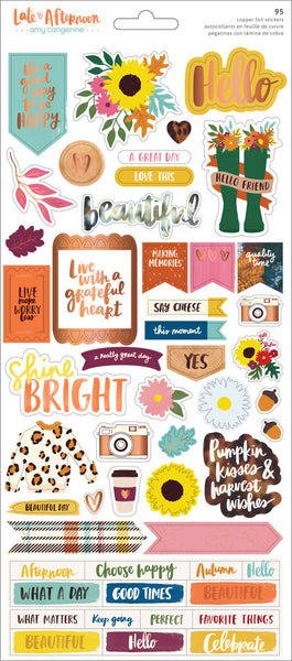 Amy Tangerine - Late Afternoon - 6 x 12 Cardstock Stickers