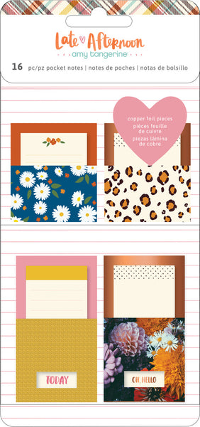 Amy Tangerine - Late Afternoon - Adhesive Pocket Notes