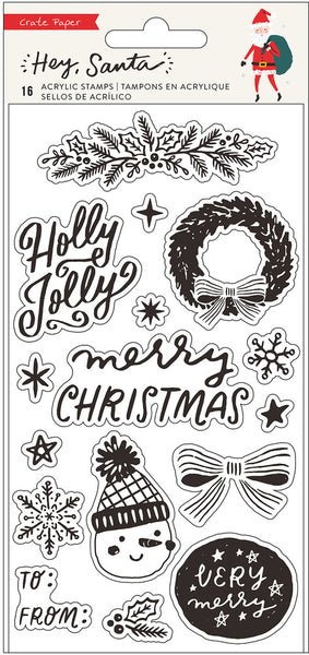 Crate Paper - Hey Santa - Clear Stamp