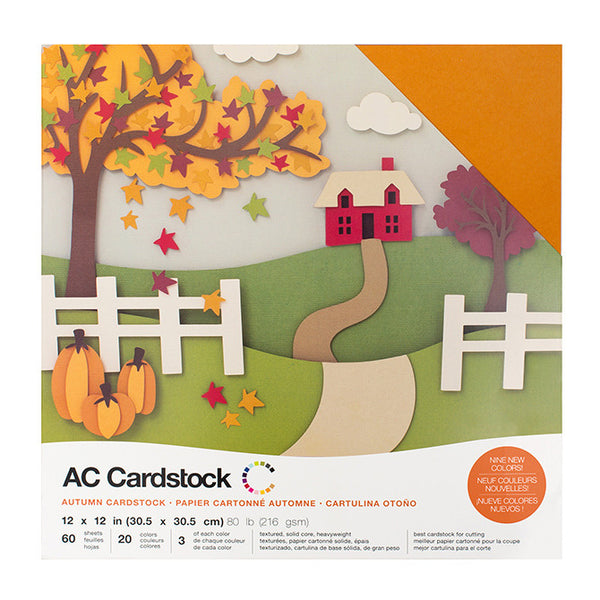 American Crafts - Autumn Cardstock Pack - 60 sheets