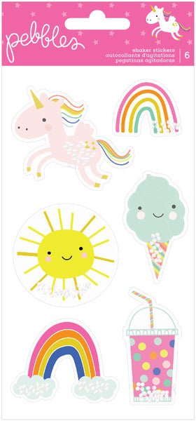 Pebbles - Live Life Happy - Shaker Stickers