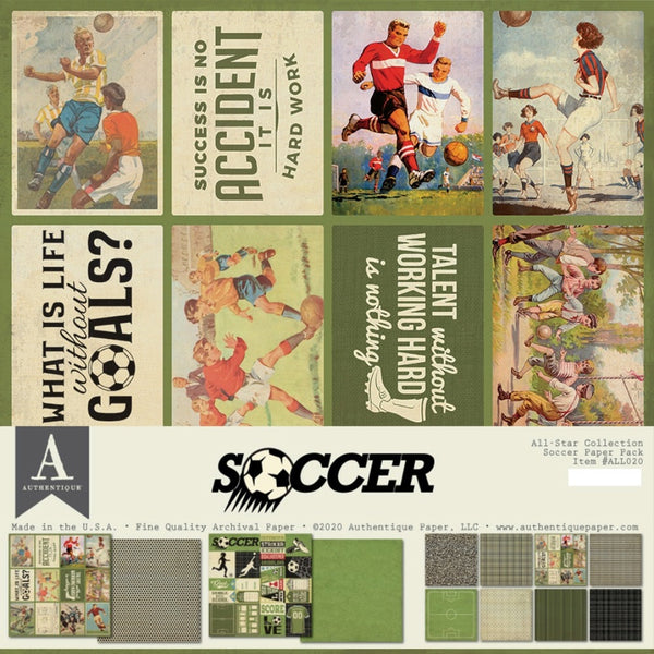 Authentique - All-Star - Soccer Paper Pack