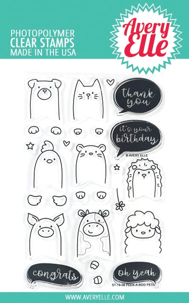 Avery Elle - Peek-A-Boo Pets Stamp & Die Bundle