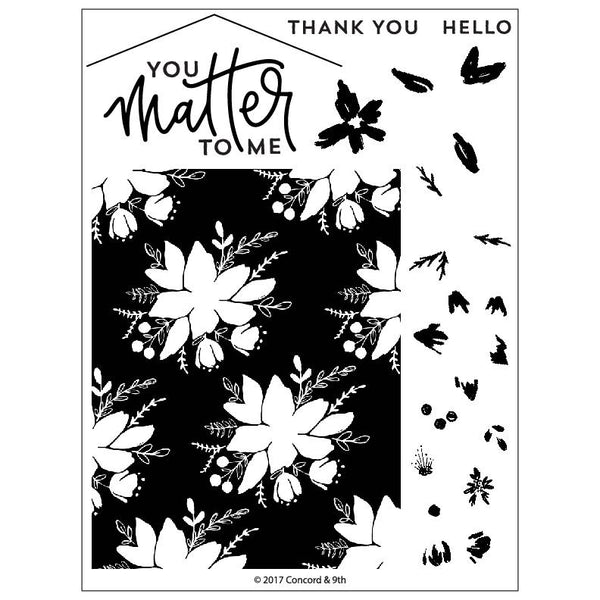 Concord & 9th - Blooms Fill-In stamp set