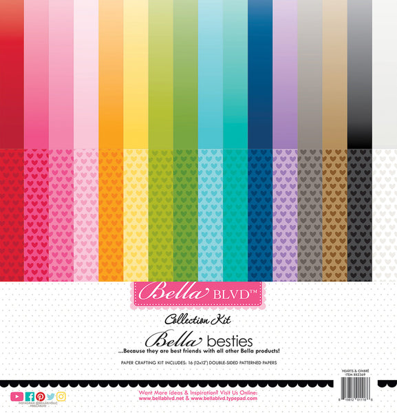 Bella Blvd - Bella Besties - Hearts & Ombré Rainbow kit