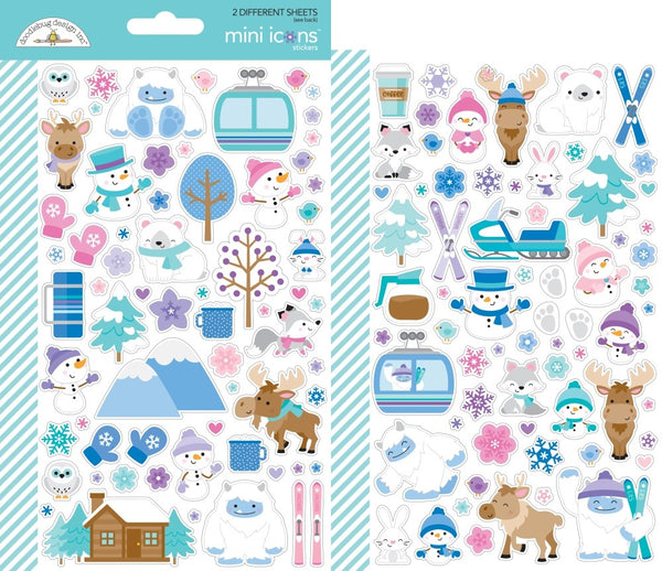 Doodlebug Design - Winter Wonderland - Mini Icon Stickers