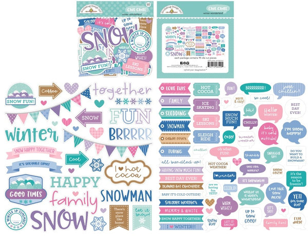 Doodlebug Design - Winter Wonderland - Chit Chat pack