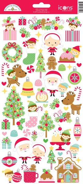 Doodlebug Design - Christmas Magic -Icons Cardstock Stickers
