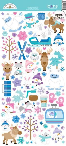 Doodlebug Design - Winter Wonderland - Icon Stickers