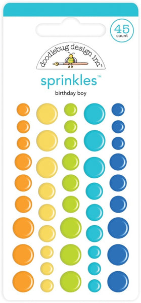 Doodlebug Design - Sprinkles - Birthday Boy Assortment