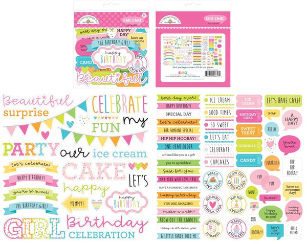 Doodlebug Design - Hey Cupcake - Chit Chat Ephemera Pack