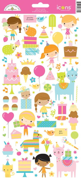 Doodlebug Design - Hey Cupcake - Icon Cardstock Stickers