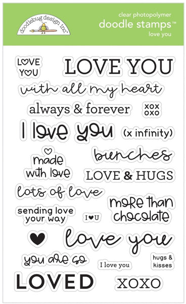 Doodlebug Design - Love You stamp set
