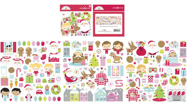 Doodlebug Designs - Night Before Christmas - Odds & Ends pack
