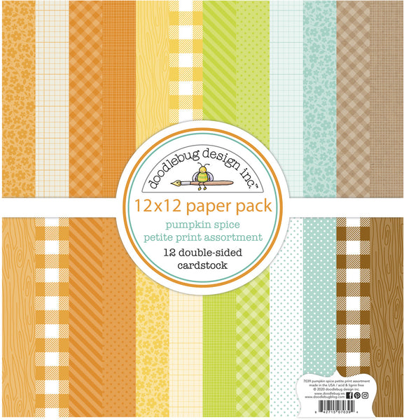 Doodlebug Designs - Pumpkin Spice - 12 x 12 Petite Print Assortment