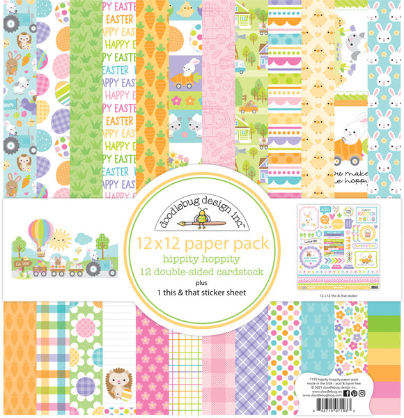 Doodlebug Design - Hippity Hoppity - 12 x 12 Collection kit