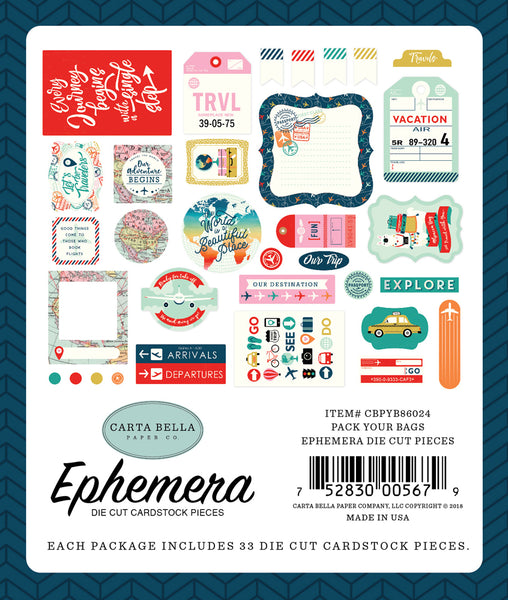 Carta Bella - Pack Your Bags - Ephemera Pack