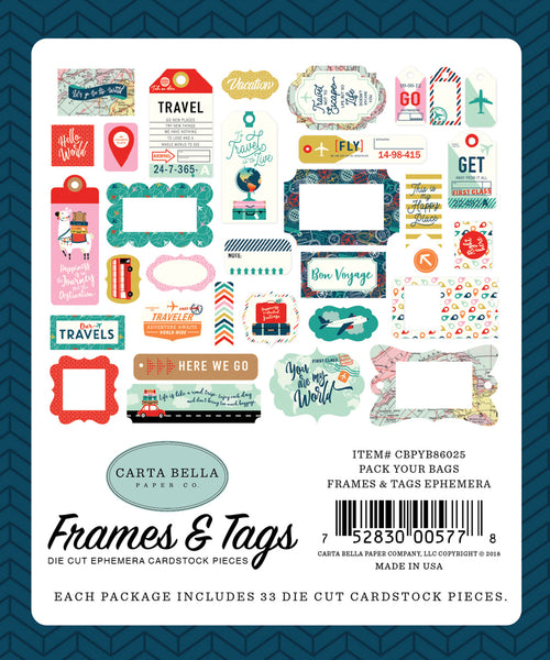 Carta Bella - Pack your Bags - Frames & Tags pack