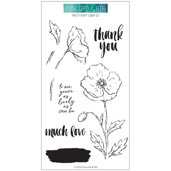 Concord & 9th - Pretty Poppy - Die & Stamp Bundle