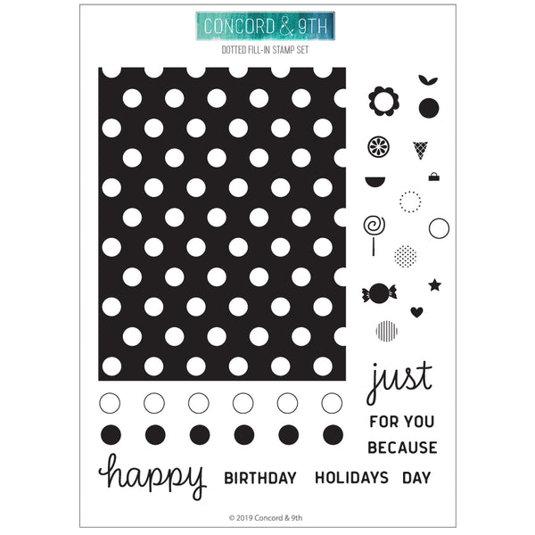 Concord & 9th - Dotted Fill-In - Stamp Set