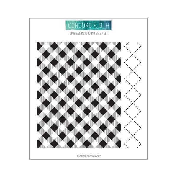 Concord & 9th - Gingham Background Stamp Set