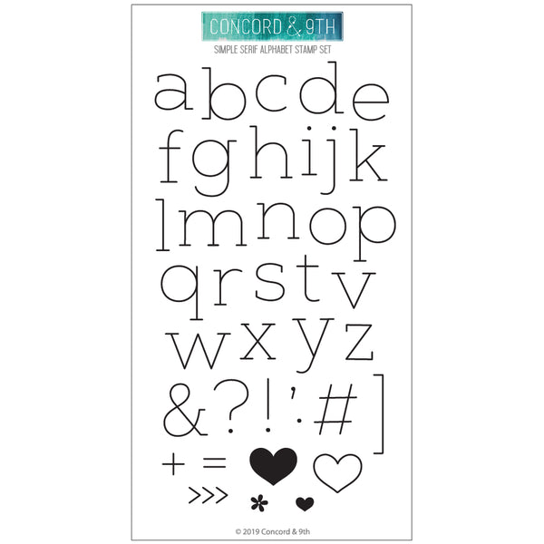 Concord & 9th - Simple Serif Alphabet Stamp Set