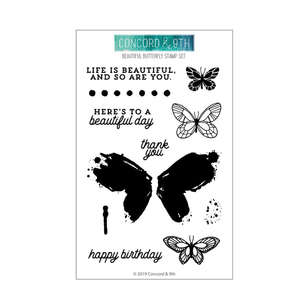 Concord & 9th - Beautiful Butterfly - Stamp Set
