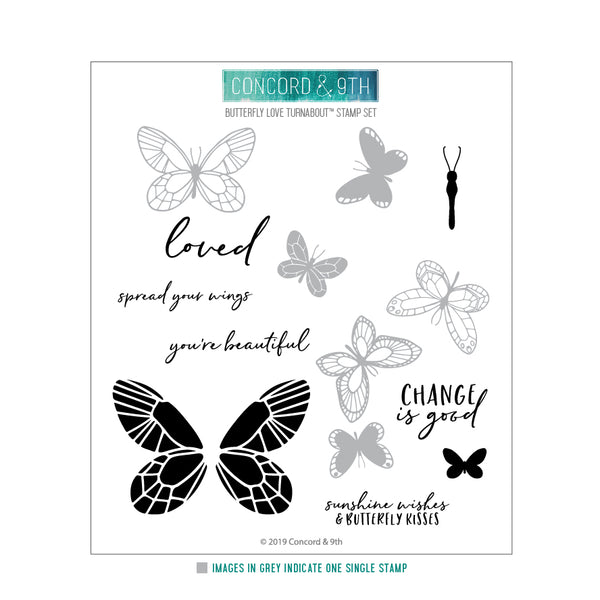 Concord & 9th - Butterfly Love Turnabout - Stamp and Die Bundle