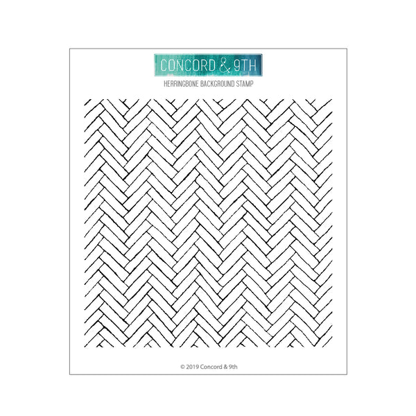 Concord & 9th - Herringbone Background - Stamp Set