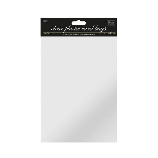 Couture Creations - Clear Plastic Card Bags - 5 x 7 50/pkg