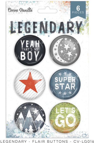 Cocoa Vanilla Studio - Legendary - Flair Buttons