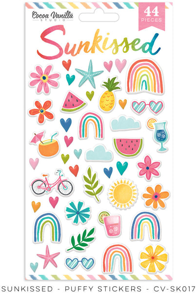 PRE ORDER - Cocoa Vanilla Studio - Sunkissed - Puffy Stickers