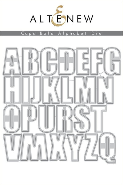 Altenew - Caps Bold Alphabet die set