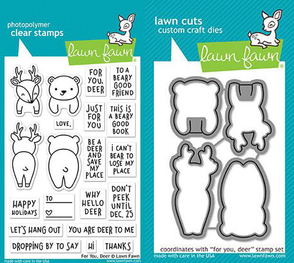 Lawn Fawn - For You Deer stamp & die Bundle