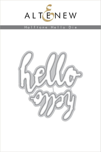 Altenew - Halftone Hello Die Set