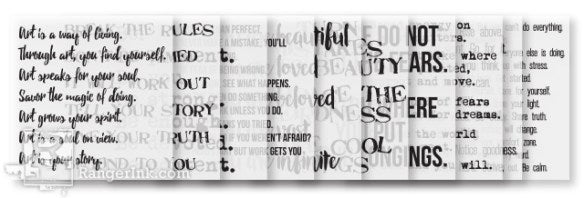 Dina Wakley Media - Collage Words