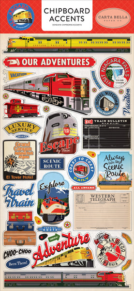 Carta Bella - All Aboard - Chipboard Stickers - Accents