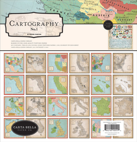 Carta Bella - Cartography - 12 x 12 Collection Kit