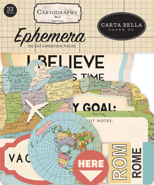 Carta Bella - Cartography - Ephemera Pack