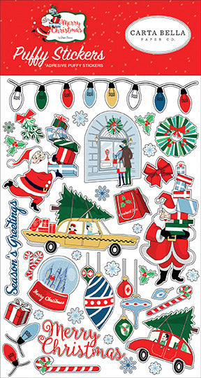 Carta Bella - Merry Christmas - Puffy Stickers