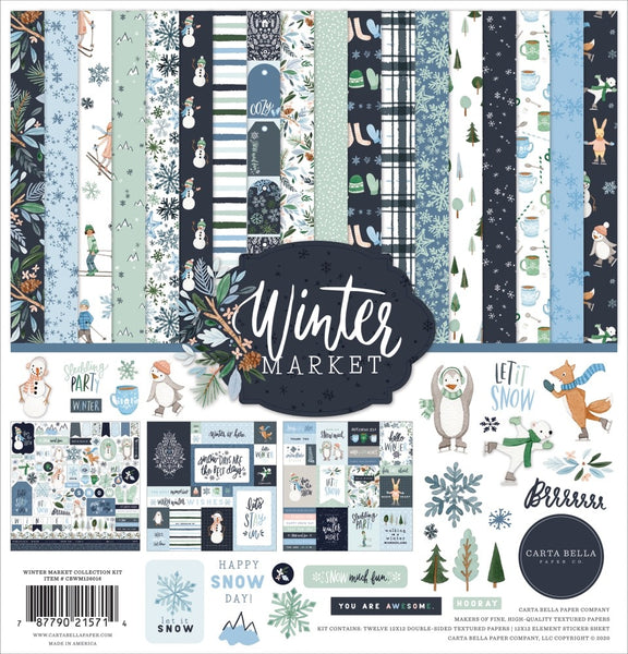 Echo Park - Winter Market - 12 x 12 Collection Kit