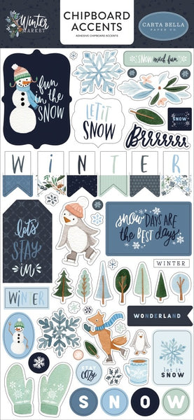 Carta Bella - Winter Market - Chipboard Accents